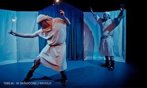 """Scena Współczesna: Bilety dla 2 osób na spektakl """"Biblia w skróconej wersji"""" za 54,99 zł w Teatrze Scena Współczesna (zamiast 80 zł)"""