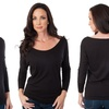 Women's Long-Sleeved Boat Neck Top