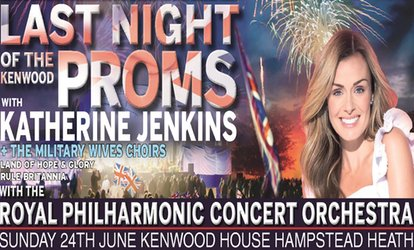 image for Katherine Jenkins plus special guests The Military Wives Choir plus the RPCO, 24 June, Kenwood House (Up to 20% Off)