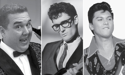 Winter Dance Party: Buddy Holly Ritchie Valens Big Bopper Tribute on February 18 at 7:30 p.m.