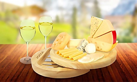 One or Two Jocca Cheese Boards with Four Piece Utensil Set