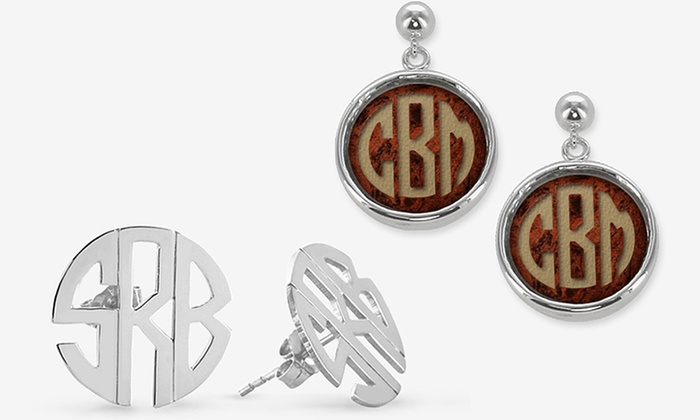 Monogram Online: Custom Monogram Earrings from Monogram Online (Up to 79% Off). Five Options Available.