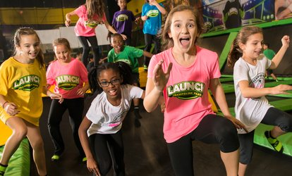 Jump Passes, Glow Nights, or a Party for up to 10 at Launch Trampoline Park - Columbia  (Up to 39% Off).