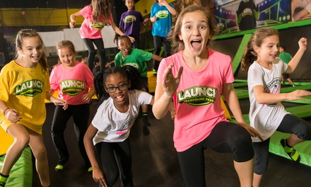 Jump Passes and Laser Tag at Launch Trampoline Park (Up to 38% Off)