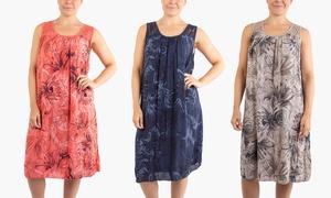 (Mode)  Robe d'été avec imprimé floral