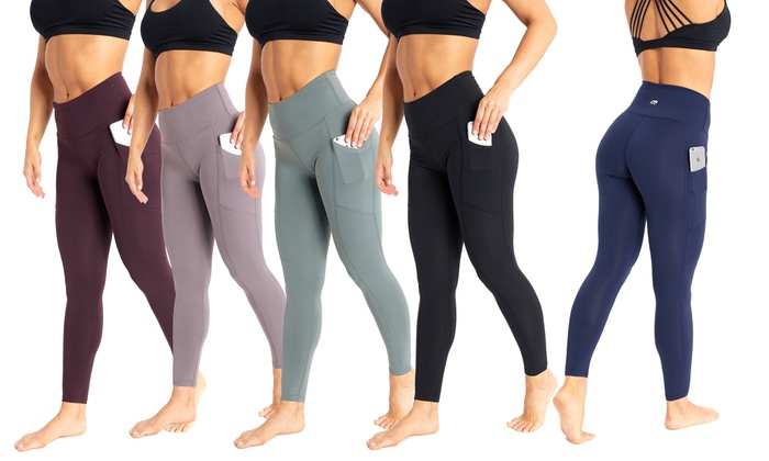 eecedaaf3d51d Marika Women's High Rise Tummy Control Pocket Leggings | Groupon