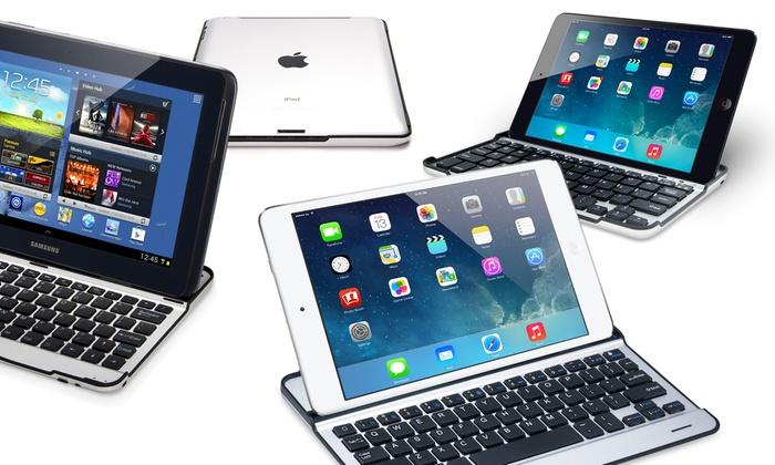 Groupon Goods Global GmbH: Carcasa de aluminio con teclado bluetooth para iPad 2/3/4, Mini o Air  desde 18,90 € (hasta 76% de descuento)
