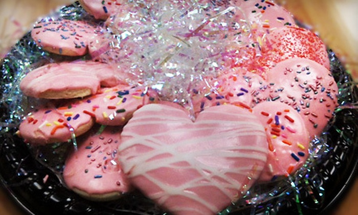 Pink City Sweets and Catering Co. - West Southwest 3: $20 for 12 Decorated, Heart-Shaped Cookies in Valentine's Day Package at Pink City Sweets and Catering Co. ($40 Value)