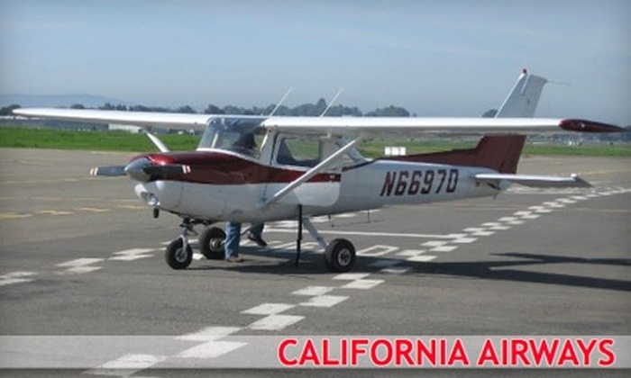 California Airways - Hayward: $140 for a Flight Lesson from California Airways ($280 Value)