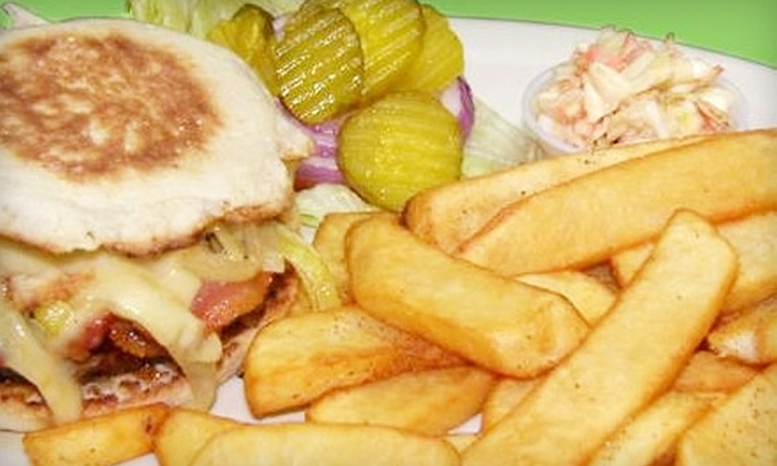 Dugout Pub & Grill - Westerleigh: $7 for Choice of Hamburger, Fries, and a Draft Beer at Dugout Pub & Grill on Staten Island ($15 Value)