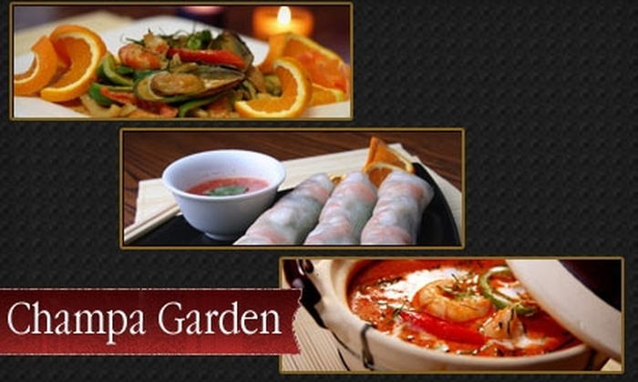 Champa Garden - Clinton: $10 for $20 Worth of Asian Cuisine at Champa Garden in Oakland