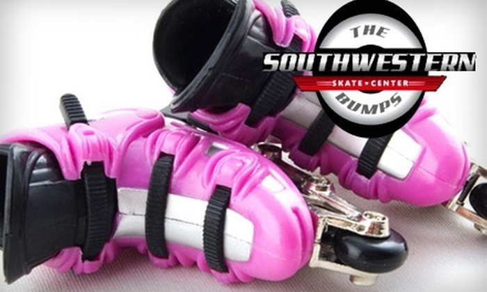 Southwestern Roller Skating - Multiple Locations: $6 for Two Adult General-Admission Tickets with Roller-Skate Rental at Southwestern Skate Center or Skate Moore (Up to $15 Value)