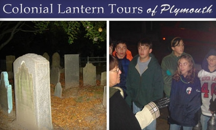 Colonial Lantern Tours - Multiple Locations: $6 for a Plymouth Ghost or Historical Tour from Colonial Lantern Tours of Plymouth (Up to $12 Value)