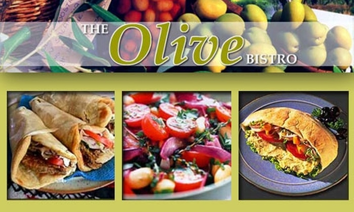 The Olive Bistro - Multiple Locations: $10 for $20 Worth of Authentic Mediterranean Cuisine at The Olive Bistro