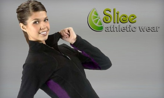 Slice Athletic Wear - Multiple Locations: $20 for $40 Worth of Canadian-Made Workout Apparel at Slice Athletic Wear