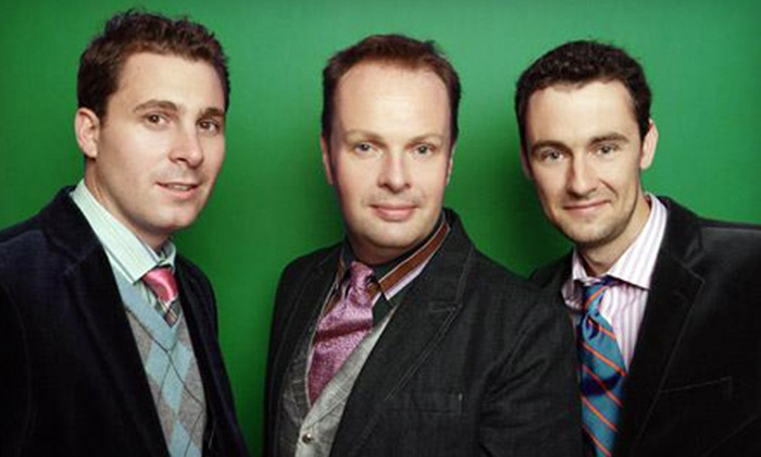 The Celtic Tenors - San Rafael: One Ticket to See The Celtic Tenors at Marin Center on March 18 at 3 p.m. Three Options Available.