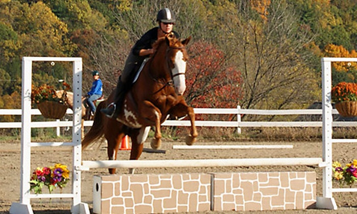 Saddle Valley Farm - Allentown / Reading: $59 for Three 1-Hour Private Horseback-Riding Lessons at Saddle Valley Farm in Bangor ($120 Value)
