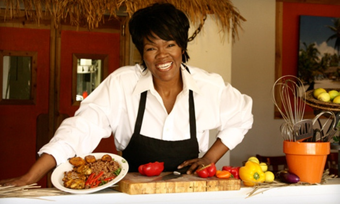 Dhat Island - Multiple Locations: $55 for a Caribbean-Creole Cooking Class from Dhat Island ($105 Value). 10 Dates Available.