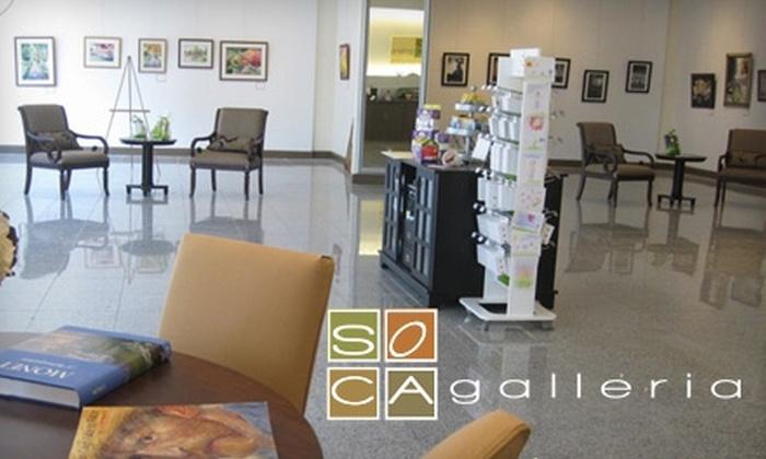 SOCA Galleria - Huntsville: $12 for a Canvas Painting Session at Soca Galleria ($25 Value)