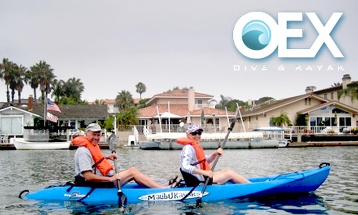 OEX Dive & Kayak  - Huntington Beach: $30 for a Summer-Evening Harbor Kayak Tour from OEX Dive & Kayak ($60 Value)
