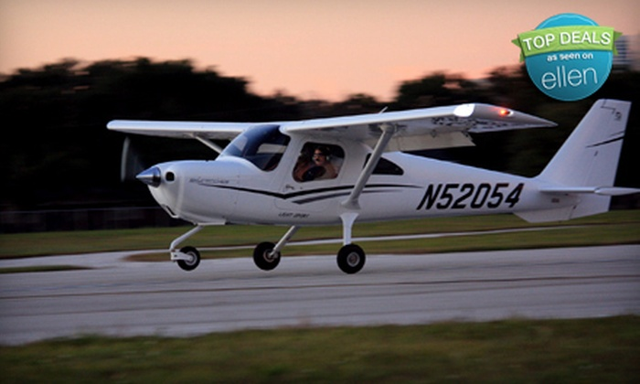 Atlas Aviation - Davis Islands: Introductory Flying Lesson or a Circle the Bay Scenic Flight Tour for Up to Two from Atlas Aviation (Up to 52% Off)