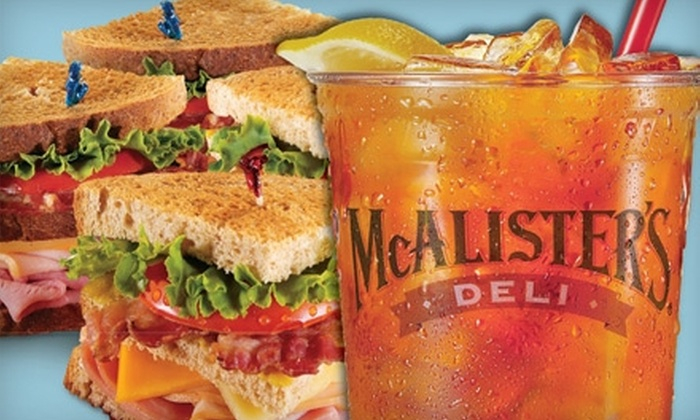 McAlister's Deli - Multiple Locations: $5 for $10 Worth of Deli Fare at McAlister's Deli. Seven Locations Available.