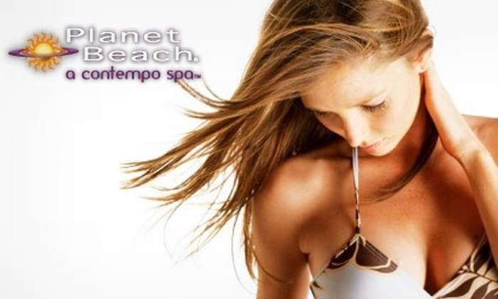 Planet Beach Contempo Spa - Multiple Locations: $20 for One Week of Spa Services (Up to $230 Value) or $25 for Three Spray Tans ($90 Value) at Planet Beach Contempo Spa. Choose from Two Sets of Locations.