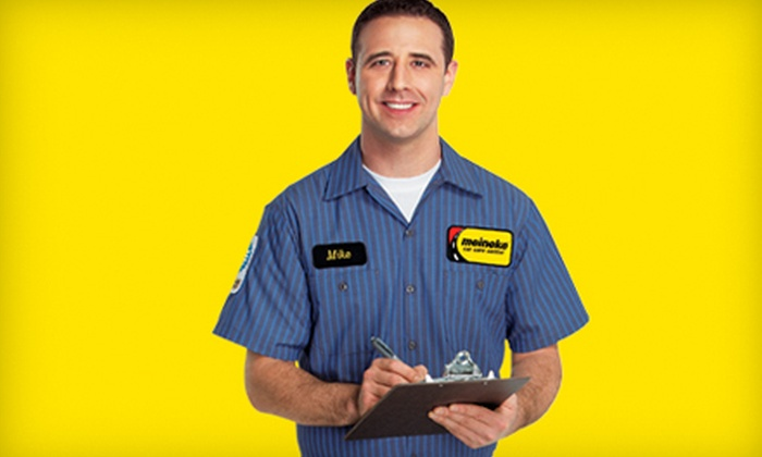 Meineke Car Care Center - Multiple Locations: $15 for an Oil Change with Roadside Assistance at Meineke Car Care Center ($29.95 Value). Three Locations Available.