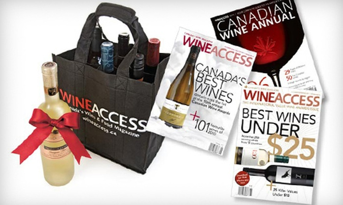 """""""Wine Access"""" - St Catharines-Niagara: $20 for a One-Year Subscription Package to """"Wine Access"""" Magazine Including 2012 Wine Annual and Tote Bag ($40 Value)"""