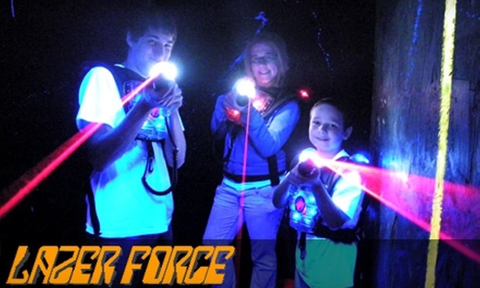 Lazer Force Lazer Tag - Caseyville: Two Rounds of Laser Tag, 18 Holes of Mini Golf, and One Small Ice Cream at Lazer Force Lazer Tag Zone in Caseyville (Up to $19 Value)