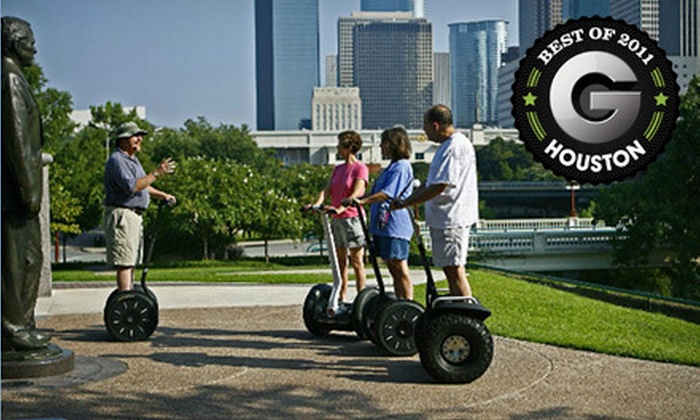 Segway Tours of Houston - Downtown: Segway Tour for One, Two, or Four, or a Private Party for Six from Segway Tours of Houston (Half Off)