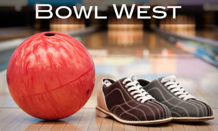 Bowl West - Multiple Locations: $8 for Three Games of Bowling Plus One Pair of Rental Shoes (Up to $15.70 Value). Choose from Three Bowl West Locations.