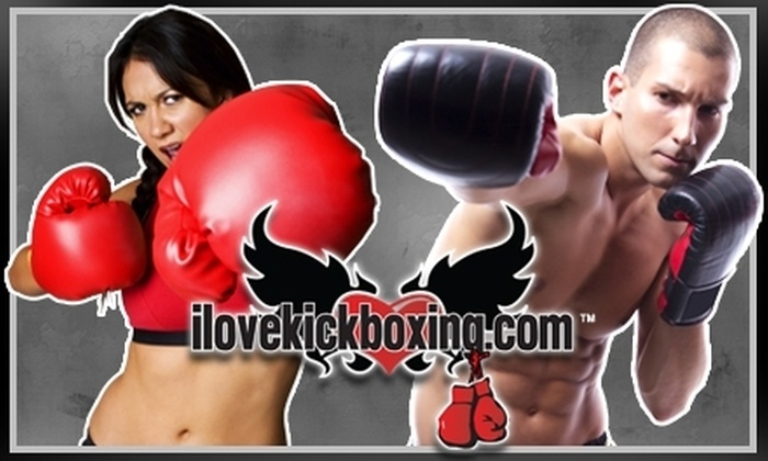 iLoveKickboxing.com - Burbank: $30 for Four Kickboxing Classes, One 40-Minute Personal-Training Session, and a Pair of Boxing Gloves from iLoveKickboxing.com in Burbank ($105 Value)