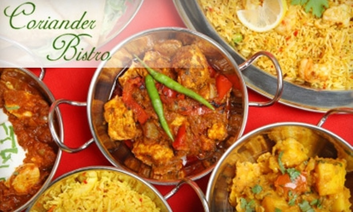 Coriander Bistro - Sharon: $15 for $30 of Indian and Nepalese Fare at Coriander Bistro in Sharon