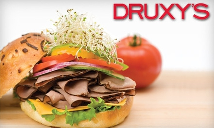 DRUXY'S Famous Deli - Central London: $5 for $10 Worth of Fresh Deli Fare or $45 for $100 Worth of Catering at Druxy's Famous Deli