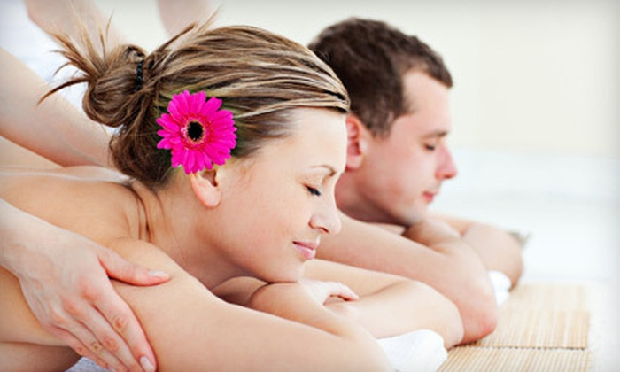 Deep Blue Massage - Fort Collins: Couples Massage or Couples Massage with with 30-Minute Heart and Sole Sugar-Scrub Foot Massage at Deep Blue Massage in Fort Collins (Up to 55% Off)