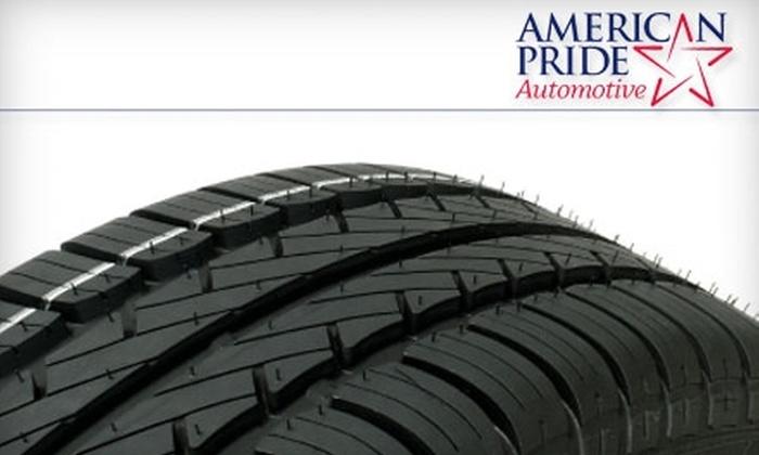 American Pride Automotive - Multiple Locations: $25 for $50 Worth of Services at American Pride Automotive
