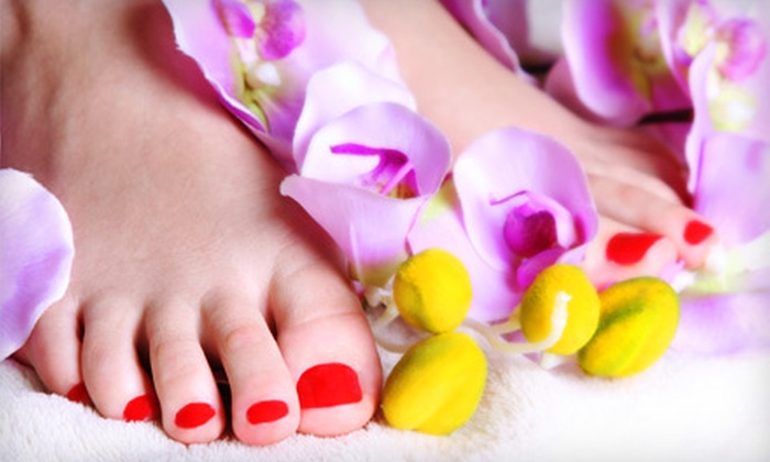 David Anthony Salon & Spa - Willowbrook: Mani-Pedi or Massage at David Anthony Salon & Spa in Willowbrook