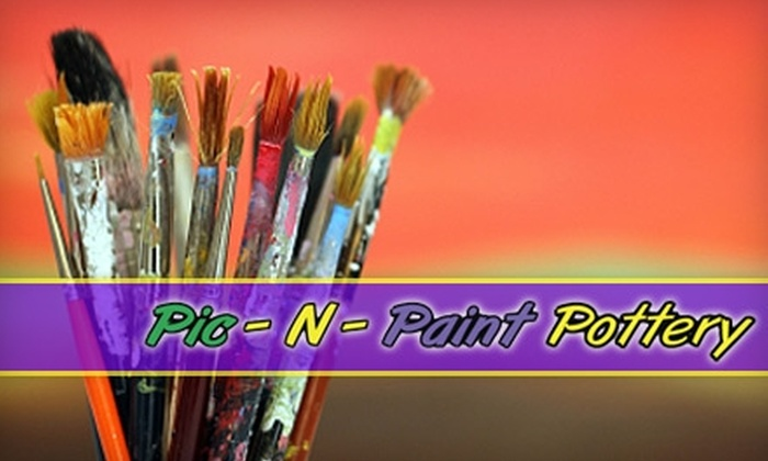 Pic-N-Paint Pottery - Green Haven: $12 for $25 Worth of Paint-Your-Own Pottery at Pic-N-Paint Pottery