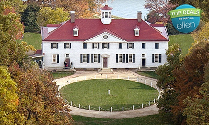 George Washington's Historic Mount Vernon - Mount Vernon: Historic Mount Vernon Estate Visit for Adult or Youth (Up to 57% Off)