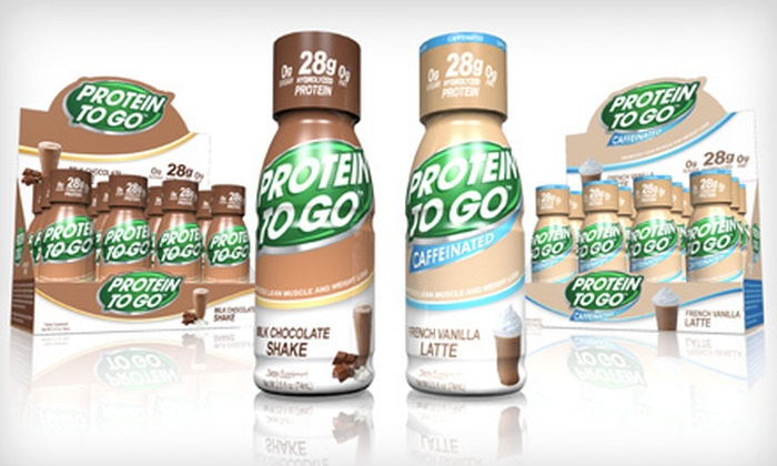 Two Dozen Protein Shots: $36 for a Protein To Go 24-Pack ($59.98 Value)