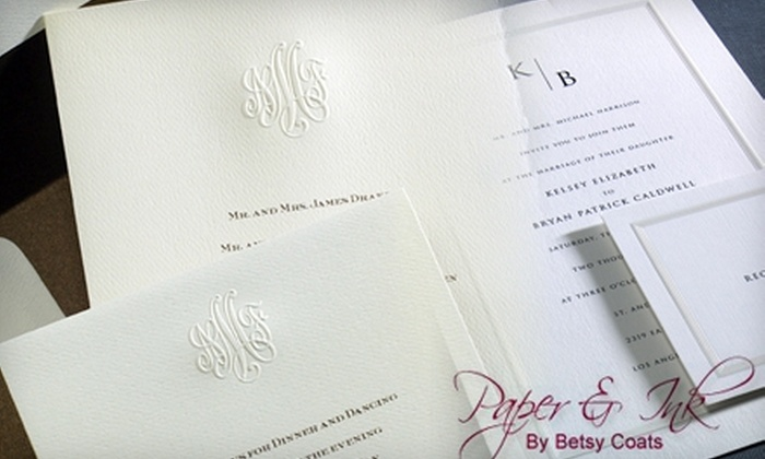 paper ink by betsy coats roseville 175 for 350 worth of wedding invitations - Groupon Wedding Invitations