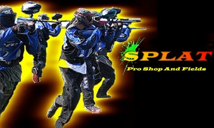 Splat Paintball - Lawrence: $21 for a Day of Open Play, 500 Paintballs, and Equipment at Splat Paintball ($41.52 Value)
