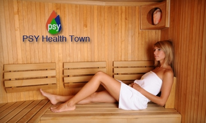 PSY Health Town - Lower Bal: $10 for Full-Day Sauna Admission at PSY Health Town in San Leandro ($20 Value)