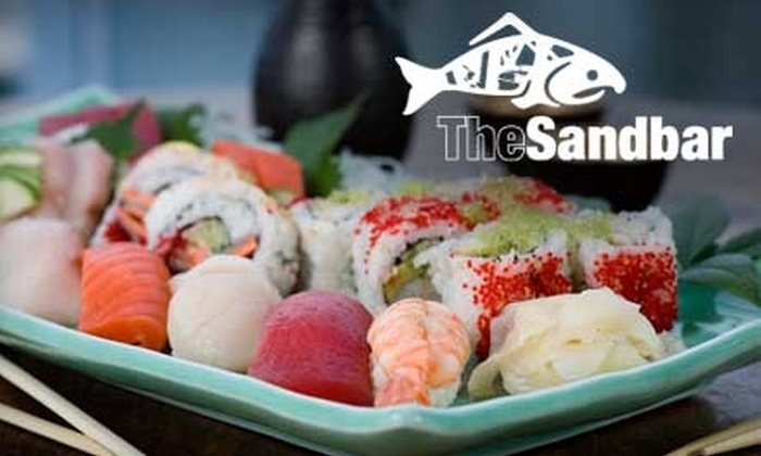 The Sandbar Seafood Restaurant - Fairview: $25 for $50 Worth of Hoshi's Sushi & Sake at The Sandbar