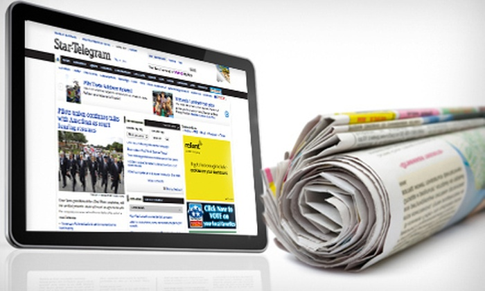 """Fort Worth Star-Telegram: One-Year Wednesday and Sunday Subscription to the """"Fort Worth Star-Telegram"""" with Press Pass (Up to 79% Off). E-Edition Option Available."""