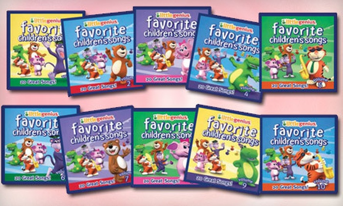 """Little Genius: Little Genius """"Favorite Children's Songs"""" CD Series from Baby Genius (Up to 71% Off). Three Options Available."""