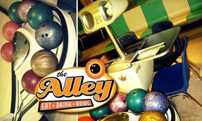 The Alley - University: $19 for Unlimited Bowling for Four People at The Alley ($52 Value)