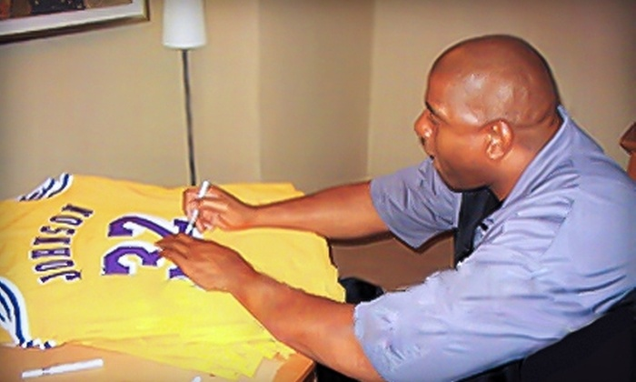 Powers Collectibles: $199 for One Los Angeles Lakers Jersey Autographed by Magic Johnson from Powers Collectibles ($399 Value)