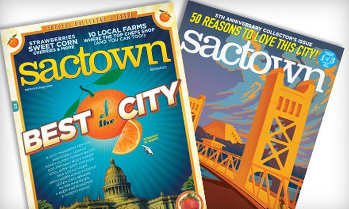 "Sactown Magazine - Sacramento: $9 for a Two-Year Bimonthly Subscription to ""Sactown Magazine"" ($19 Value)"